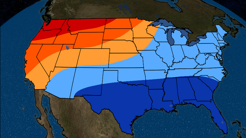 January-March 2019 Temperature Outlook: Cold in East, South