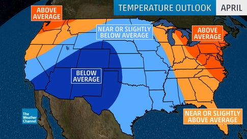 Spring, Early-Summer Temperature Outlook: Warm in ...