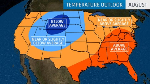 Hot End to Summer in Parts of East, Cool End in Parts of Northern Plains, But Changes Could Occur in Early Fall