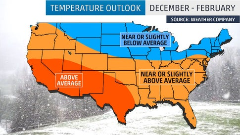 Winter 2019-20 Will Likely Be Warmer Than Average in Southern U.S. & Colder Than Average in Parts of Northern Tier