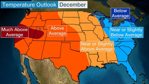 Us Weather Map December Here's the U.S. Temperature Outlook for December 2019 | The