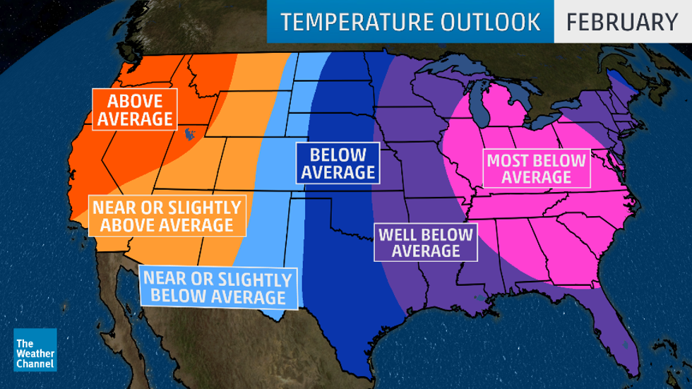 Late-Winter to Early-Spring Temperature Outlook: Frigid February in