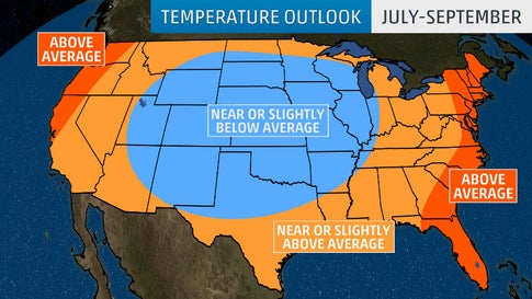 Mid-Summer to Early-Fall Temperatures Are Expected to be Mild in the ...