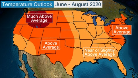Summer 2020 U S Temperature Outlook Warmer Than Average Conditions Expected For Most Of Lower 48 The Weather Channel,Mid Century Modern Bedroom Design Ideas