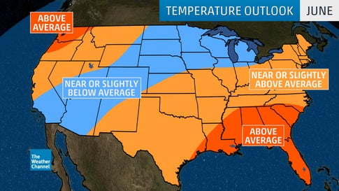 Spring, Early-Summer Temperature Outlook: Warm in Northeast ...