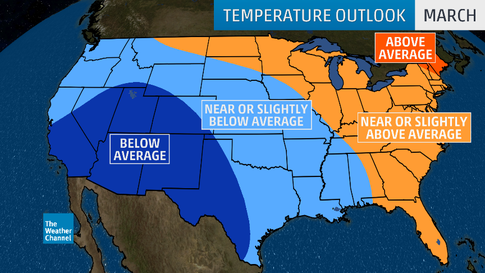 Spring 2019 Temperature Outlook: Warm North and East, Chilly