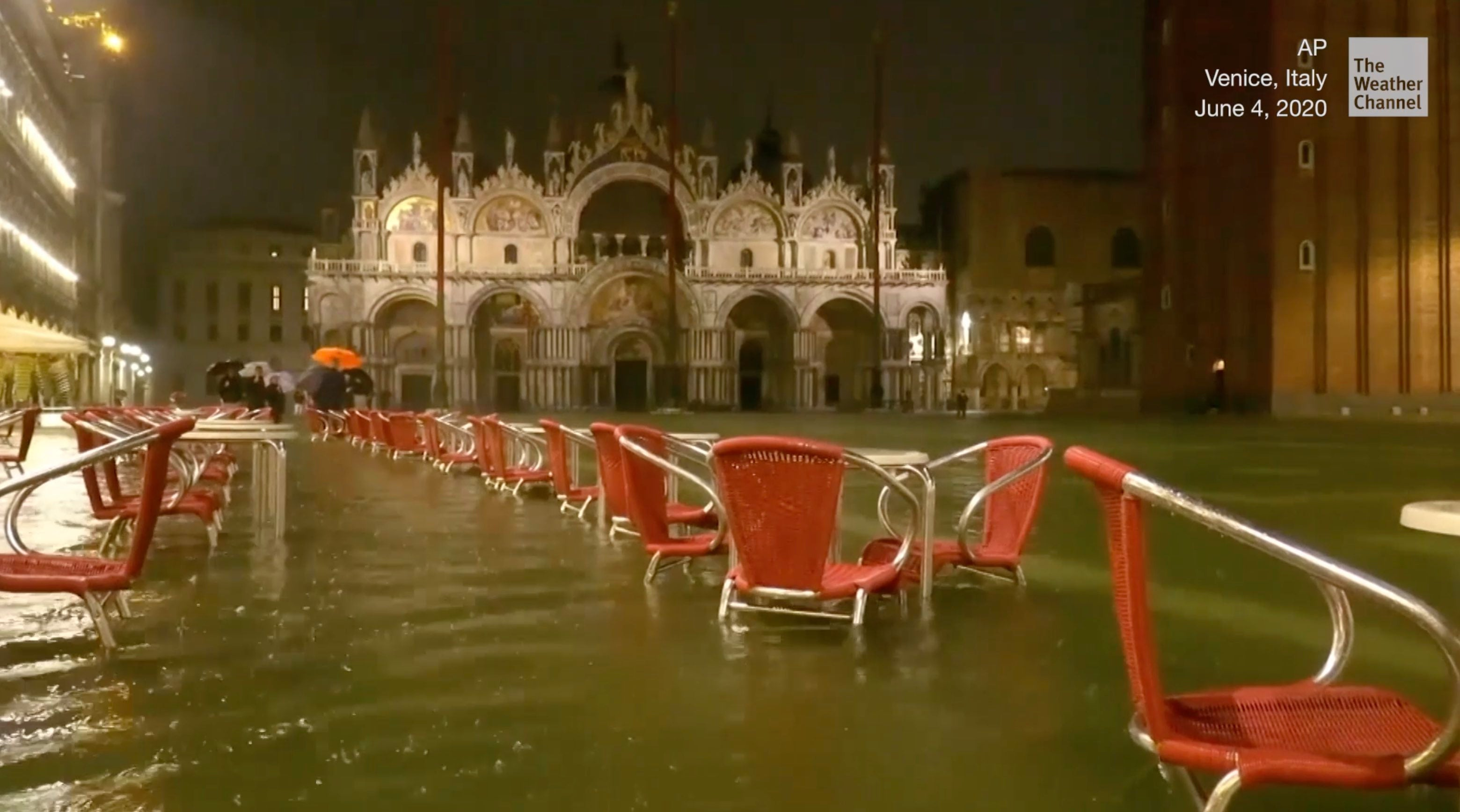 Venice, Italy is known for flooding, but not usually in June.