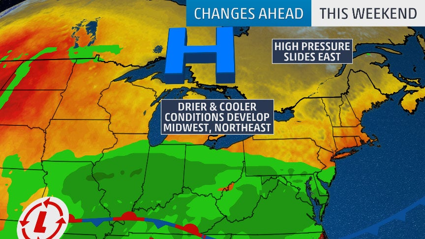 Big Weather Changes Coming This Weekend in the Upper Midwest and Northeast