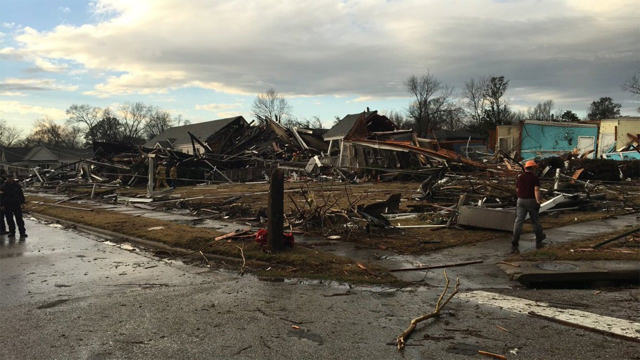 tornadoes tear through south  extensive damage reported in