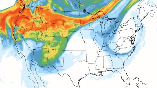 Wildfire Smoke from Western Fires Detected in Majority of U.S.