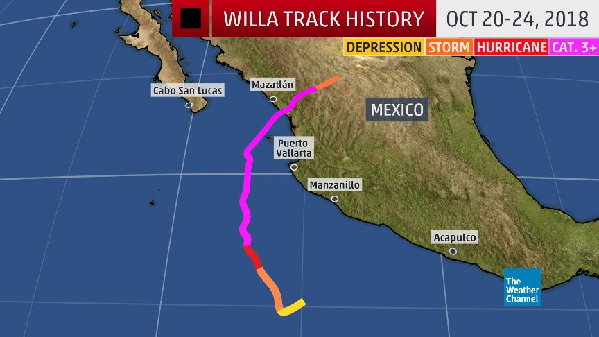 hurricane willa recap  destructive winds and flooding rain