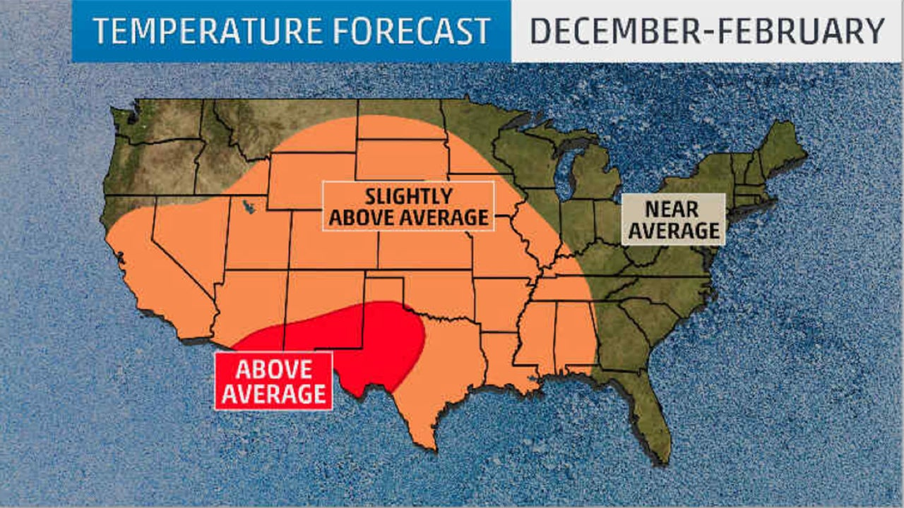Winter  Outlook Weak La Niña May Bring Colder Temperatures - Us weather map may