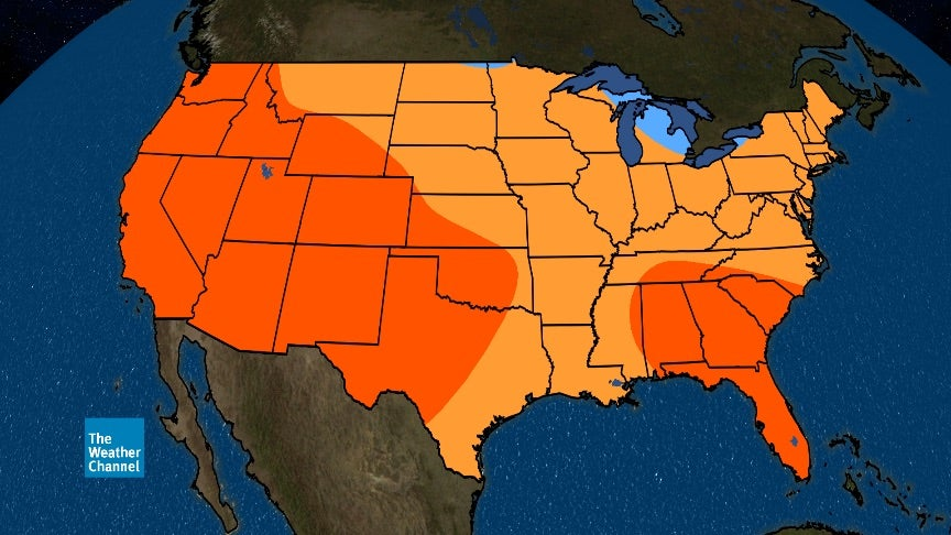 Summer 2017 Temperature Outlook Hotter Than Average In Parts Of South And West The Weather Channel