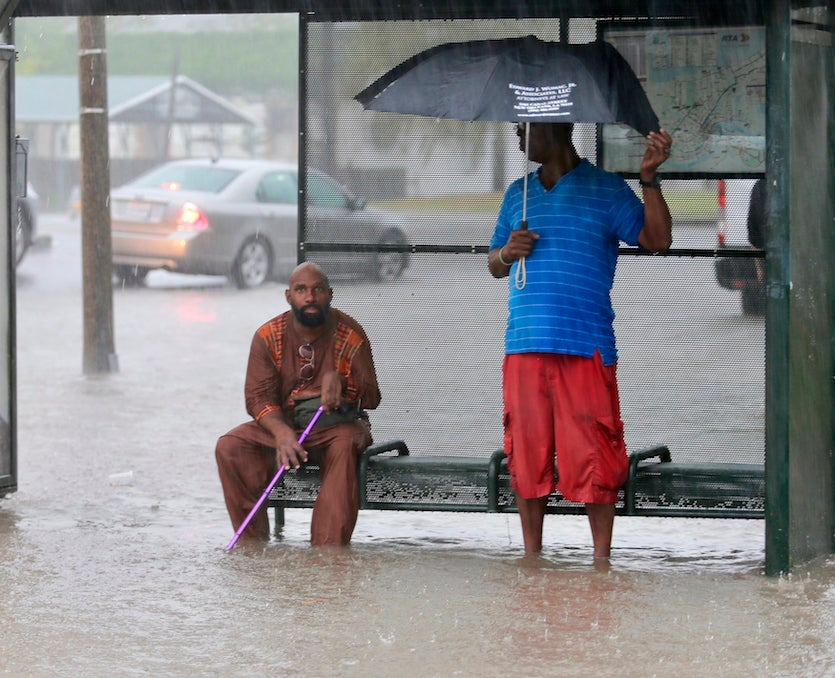 Flooding on Broad Street in New Orleans, 7/10/19