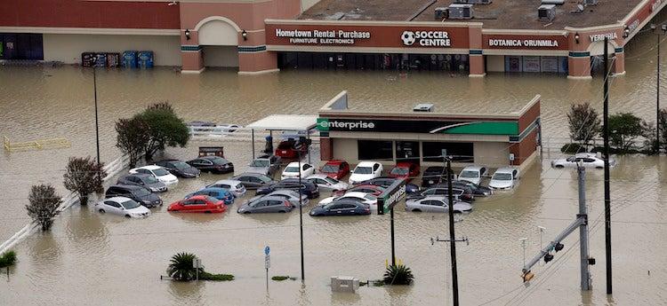Flooding near Addicks Reservoir on 8/29/2017