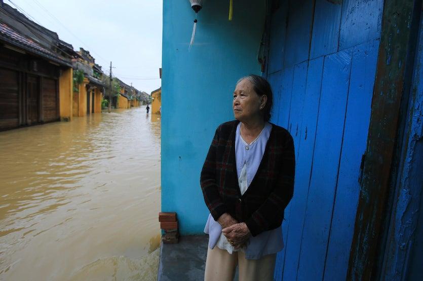 Typhoon Damrey flooding