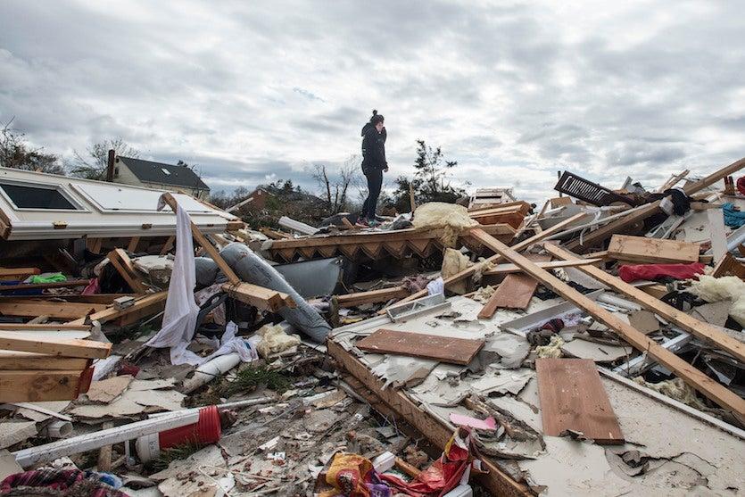 Tornado damage in Elon, VA, 4/16/18