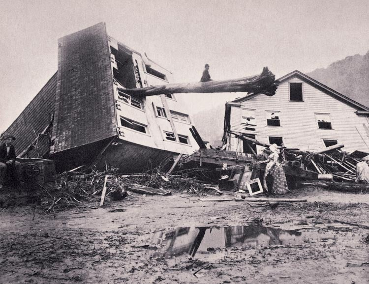 The John Shultz house on Union Street in Johnstown was one of the thousands destroyed in the 1889 flood