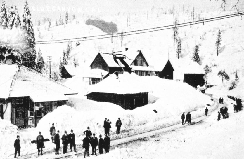 Snow in Blue Canyon, CA, 1916-17