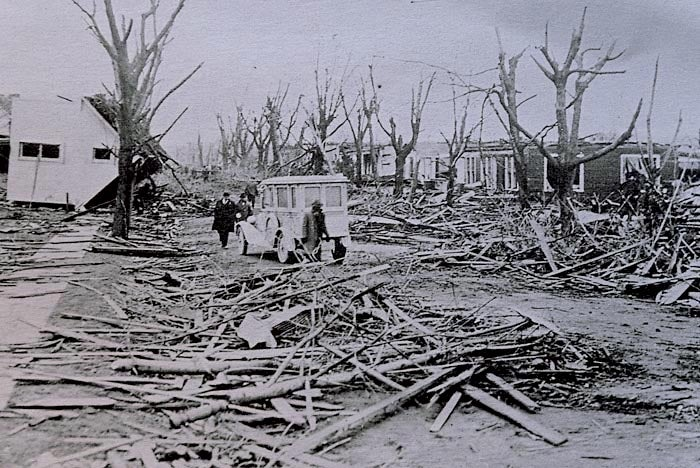 Damage in Griffin, IN, from the Tri-State Tornado on March 18, 1925
