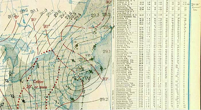 Weather map for March 2, 1914