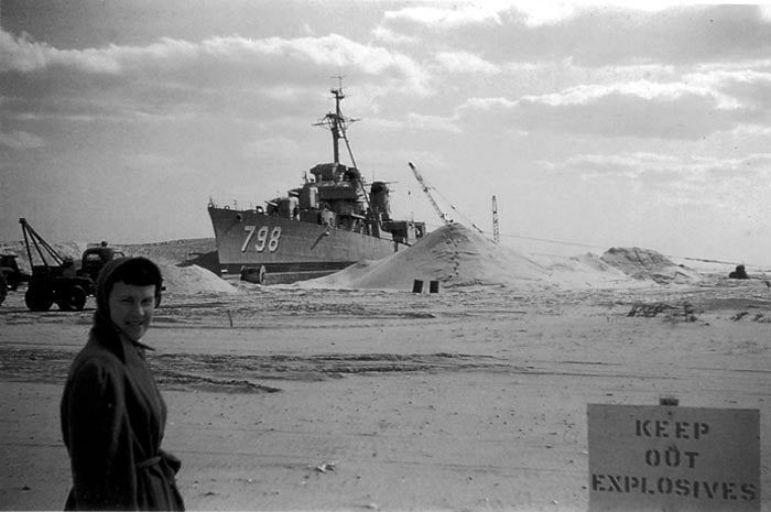 USS Monsen beached near Holgate, NJ, by Great Atlantic Storm of March 5-8, 1962