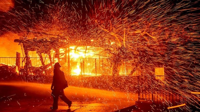 Hillside Fire near San Bernardino on October 31