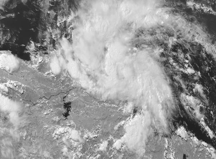 TS Bret on GOES-16 satellite, 2:30 pm EDT 6/19/17