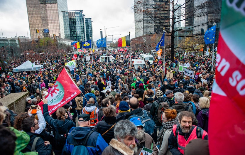 A huge national march called Claim the Climate took place in Brussels on Sunday, December 2, 2018