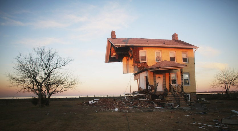 Princess Cottage damage from Sandy at Union Beach, NJ