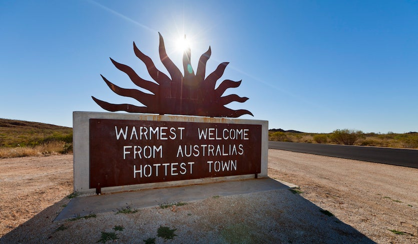 The town of Marble Bar in Western Australia is consistently among the nation's hottest