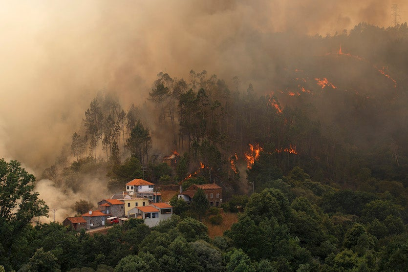 Wildfire in Mega Fundeira, Portugal, 6/20/2017