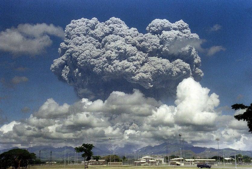 Eruption of Mt. Pinatubo, Philippines, 6/12/1991