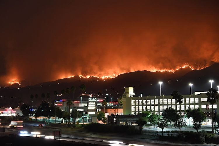 La Tuna fire near Burbank, CA, 9/2/2017