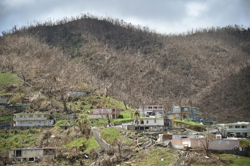 Damage at Yabucoa, Puerto Rico, from Hurricane Maria