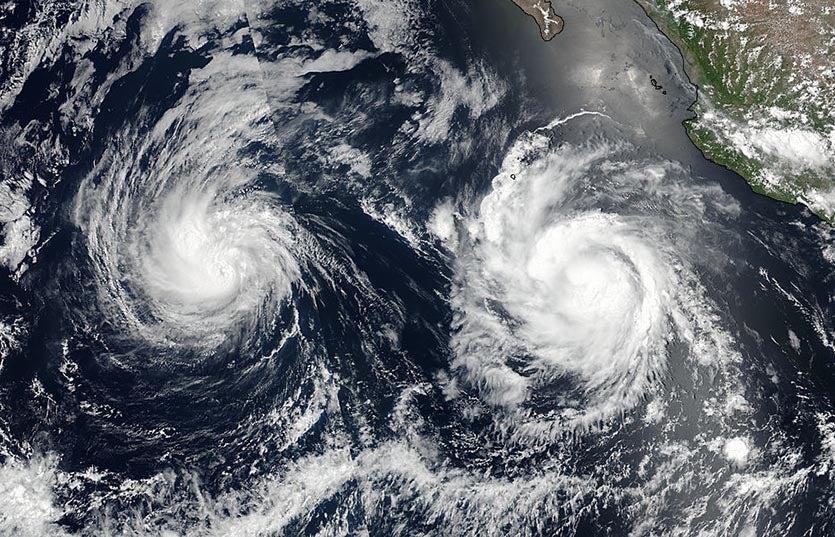 Hurricanes Irwin and Hilary