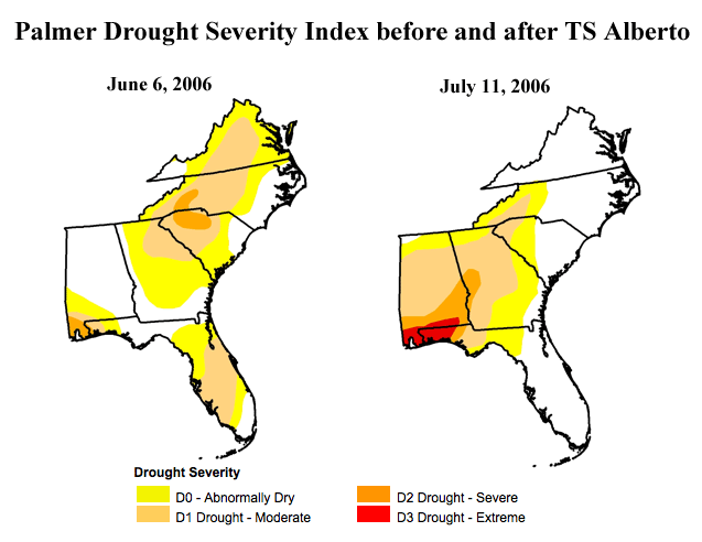 Drought busted by trpoical storm