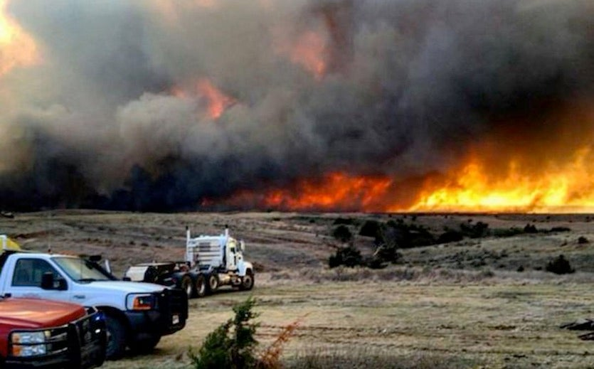 Anderson Creek Fire in Woods County, Oklahoma, March 2016