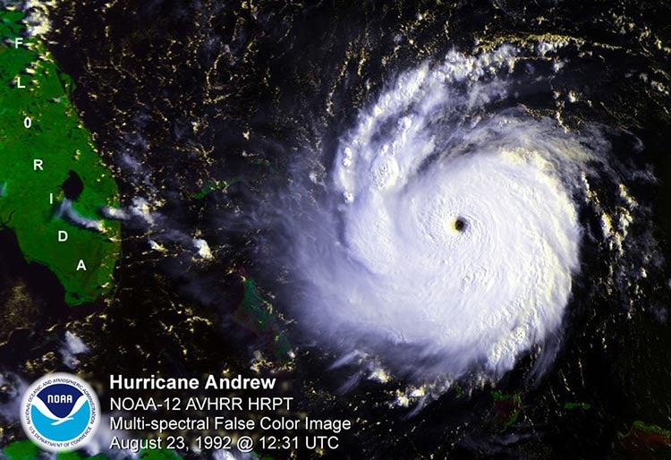 Hurricane Andrew satellite