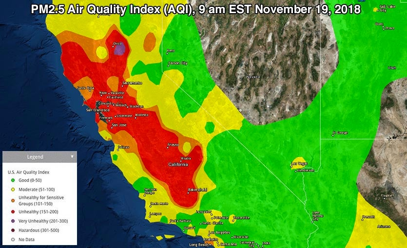 Unhealthy Air in California Through Tuesday, Then Blessed
