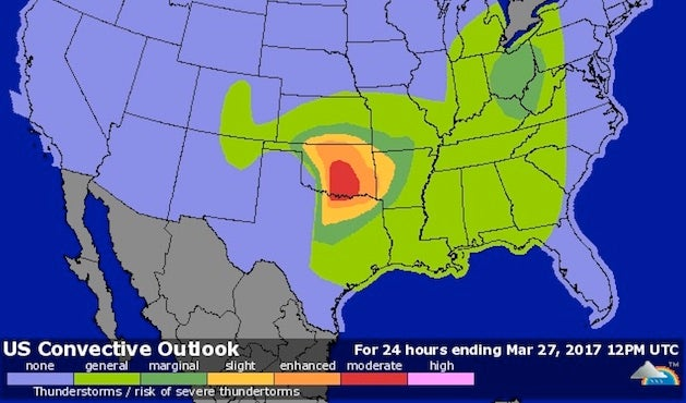 Localized Tornado Outbreak Possible Sunday in TX/OK ...