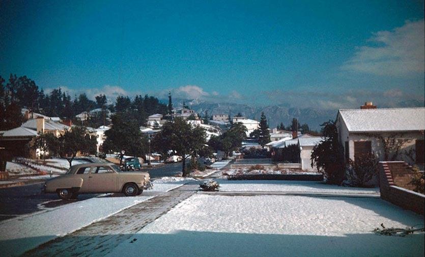 L.A. snow