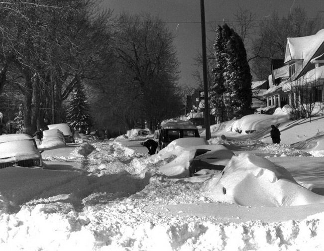 DIgging out after Denver's Christmas Eve 1982 blizzard
