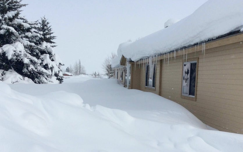"""In Jackson, Wyoming, the official 55.1"""" of snowfall was less than an inch short of it snowiest month on record (56.0"""" in December 1969)."""