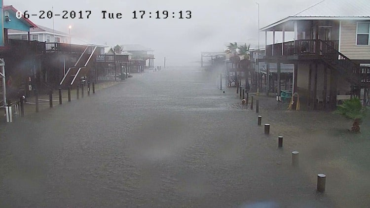 Flooding in Grand Isle, LA, 6/20/2017