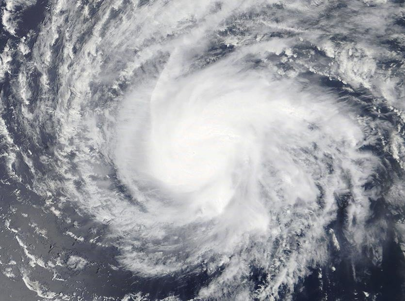 Tropical Storm Florence as seen on Monday afternoon, September 3, 2018. Image credit: NASA Worldview