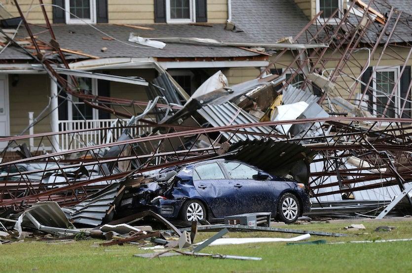 Florence tornado damage