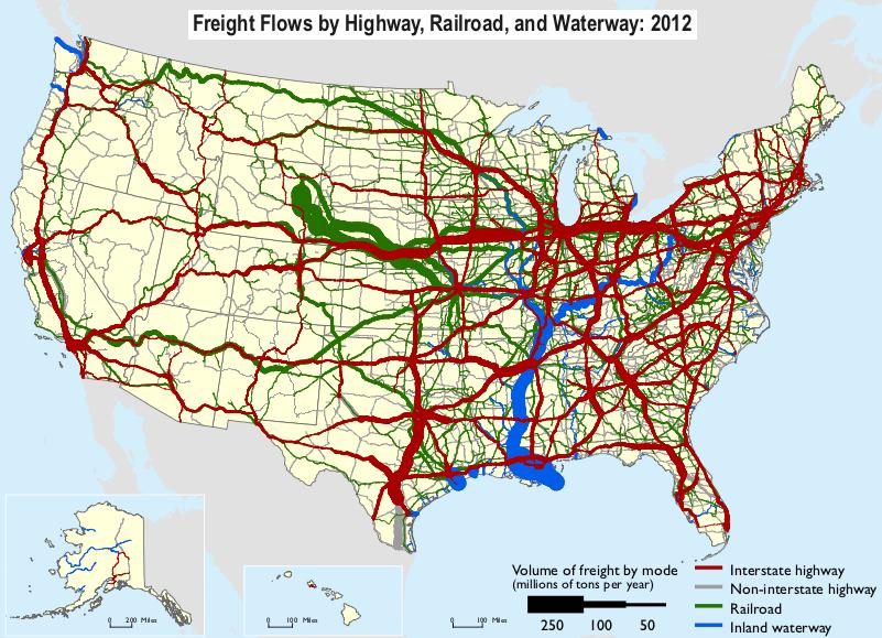 Freight flows