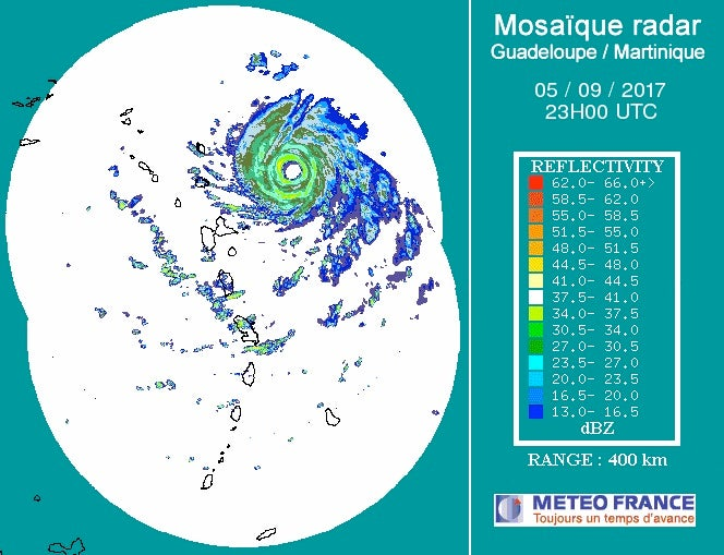 Irma on Martinique radar, 2300Z 9/5/2017