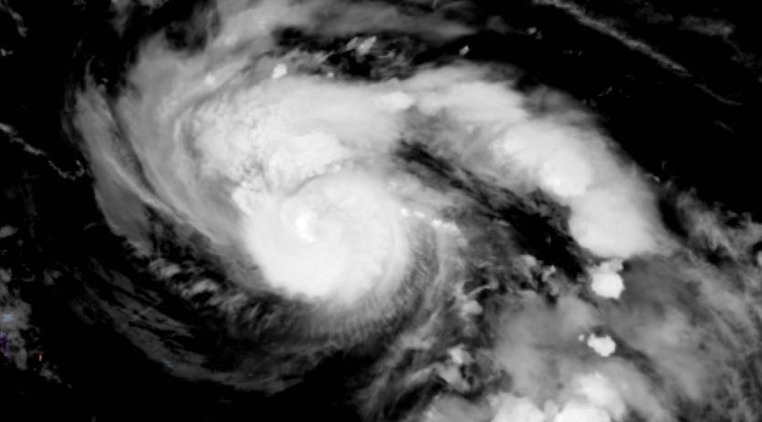GeoColor satellite image of Hurricane Dorian as of 0010Z 8/30/19